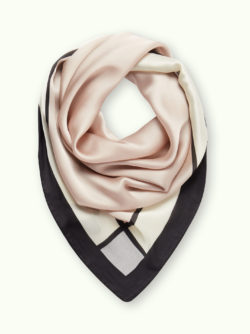 Beige and White Satin Scarf 5